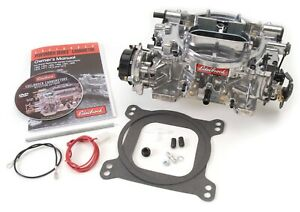 Edelbrock 1803 Thunder Series Avs Carburetor 500 Cfm Electric Choke Satin Finish