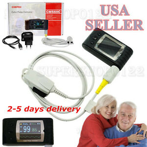 Usa Handheld Pulse Oximeter Spo2 Monitor Blood Oxygen cms60c color Lcd