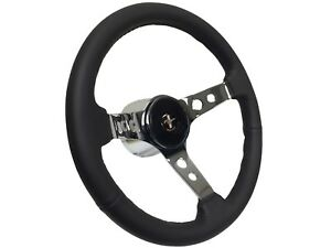 1979 1982 Ford Mustang Leather Steering Wheel Deluxe Chrome Fox Body Kit