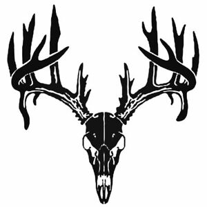 Buck Skull Horns Antlers Vinyl Decal sticker For Car Truck Bumper Wall Window