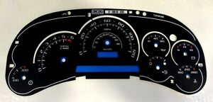 Gm Truck Suv Black Instrument Cluster Gauge Face Escalade Graphics Blue Scale