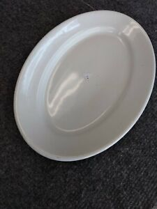 Vintage Antique American White Ironstone Hotelware Oval Serving Platter 8x11 5