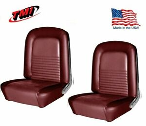 1967 Mustang Front Bucket Seat Upholstery 2920 Dark Red By Tmi In Stock