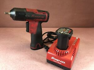 Snap on Tools Ct625 7 2v 1 4 Cordless Impact Wrench 2 Batteries charger