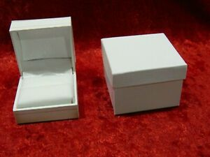 X36 White Luxury Leatherette Ring Presentation Display Gift Boxes W Outer Box
