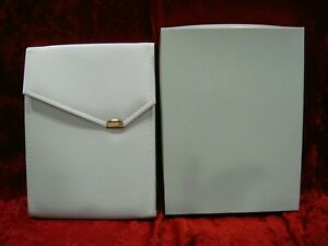 X18 White Leatherette Necklace Folders Pearl Display Presentation W Outer Box