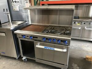 Imperial Commercial Restaurant Range 48 W 24 Griddle Nat Gas Ir 4 g24 xb