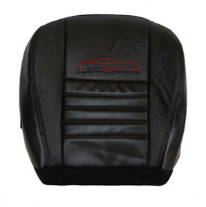 2003 Mustang Gt Driver Bottom Perforated Replacement Leather Seat Cover Black