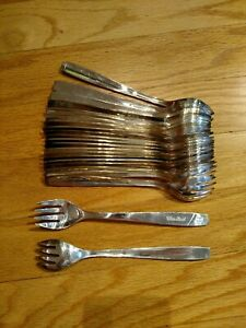 Fork United Airlines By International Silver Co Silverplate Flatware 6 1 2