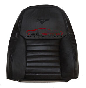2000 Mustang Gt Driver Lean Back Perforated Replacement Leather Seat Cover Black