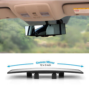 Universal Car 300mm Wide Convex Curve Interior Clip On Rear View Mirror Extender