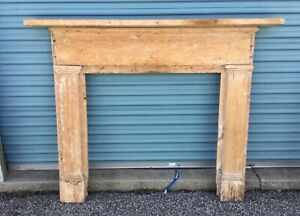 Antique Federal Style Pine Fireplace Mantel Mantle