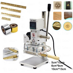Hot Foil Printing Machine Brass Logo Stamping Letter Emboss Leather Heat Press