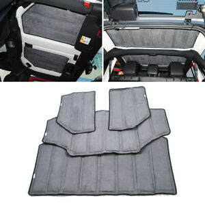 4pcs Hardtop Headliner Roof Insulation Kit For 2011 2018 Jeep Wrangler Jk 4 Door