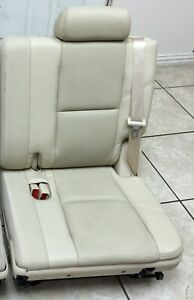 Yukon Denali Tahoe Escalade 3rd Third Row Seat Cashmere Leather 07 14