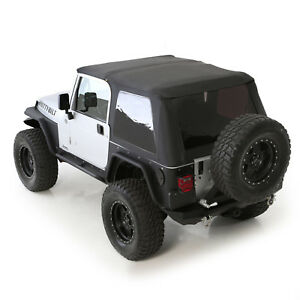 Smittybilt 9973235 In Stock Bowless Combo Soft Top 1997 2006 Jeep Wrangler Tj