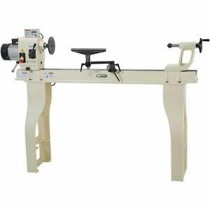 Shop Fox W1758 16 X 46 2hp 10 Speed Wood Lathe With Stand And Dro W Iron Bed