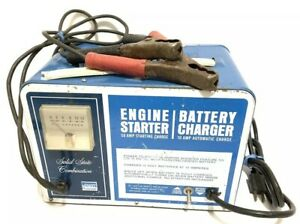 10 50 Amp 12 Volt Battery Charger Jump Engine Starter Car Boat Montgomery Ward
