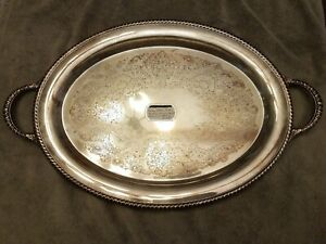 Vintage Silverplate Butler S Tray 20 X 15 International Silver Company