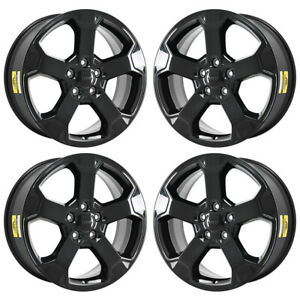 20 Jeep Grand Cherokee Upland Gloss Black Wheels Rims Factory Oem 2019 Set 9211