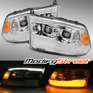 Alpharex For 2009 2018 Ram 1500 2500 3500 Base Model Projector Headlights Chrome