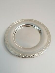 Meadowbrook Wm A Rogers Silver Plate Dish Leaves Vines Small Tray 5 5 8