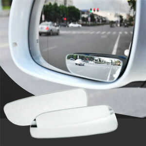 2pcs Auto Car 360 Wide Angle Convex Universal Rear Side View Blind Spot Mirror