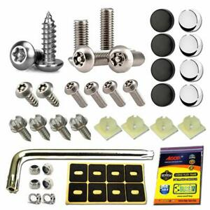 License Plate Anti Theft Screws Stainless Steel Tamper Resistant Mounting Kit