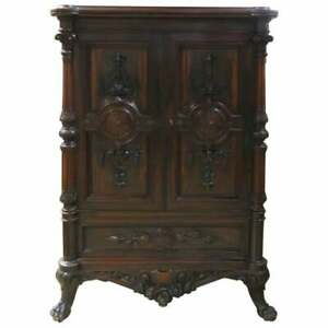 Rosewood Collectors Cabinet Attributed To Thomas Brooks