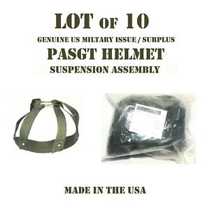 LOT of 10 XS NEW COMBAT HELMET w KEVLAR PASGT GROUND TROOPS SUSPENSION ASSEMBLY $69.95