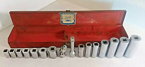 Bonney Bon E Con 3 8 Drive 17 Pc Socket Set Made In Usa B Shield