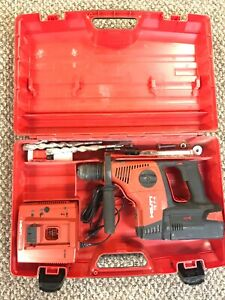 Hilti Te7a Cordless Rotary Hammer Drill With Battery Charger And Carry Case