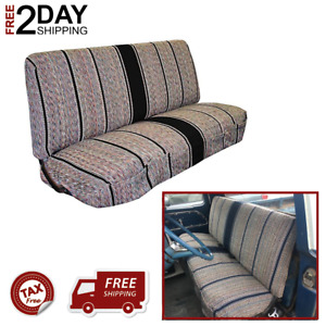 Saddle Blanket Seat Cover Truck Front Bench For Chevrolet Dodge Heavy Duty Black