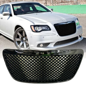 Front Upper Mesh Grill Gloss Black Grille For Chrysler 300c 2011 2015