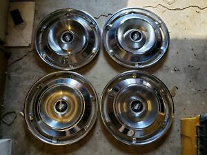 Buick 1961 Lesabre Invicta Hub Cap Set Of 4 Wheel Covers Nice 61
