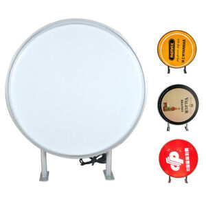 24 Round Led Double Sided Outdoor Advertising Projecting Light Box Sign