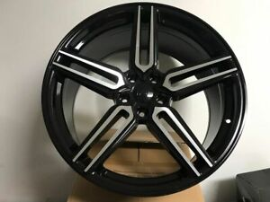20 Black Staggered Hybrid Style Rims Wheels For Bmw 5 Series 2011