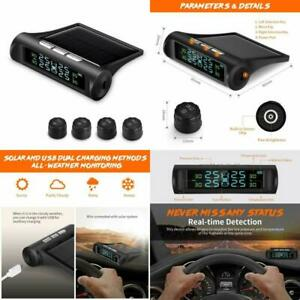Zeepin Tpms Solar Power Universal Wireless Tire Pressure Monitoring System With