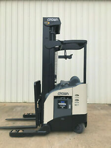 2008 Crown Rr 5200 Narrow Aisle Reach Truck Forklift 270 Only 8692 Hours