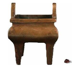 Chinese High Foot Double Ear Bronze Censer Ming Dynasty