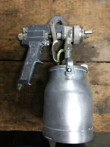 Vintage Ace Att Paint Spray Gun Siphon Feed Old School Clean Cup