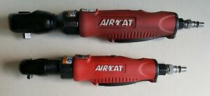 Aircat Pneumatic Tools Air Ratchet Wrench Large 3 8 802 Mini 1 4 800 Lot Of 2