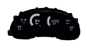 Ford Mustang Digital Dash Panel For 1994 2004 Gauges By Intellitronix White Leds