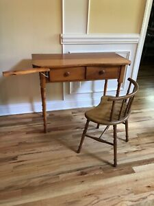 Sewing Table W Chair Solid Pine