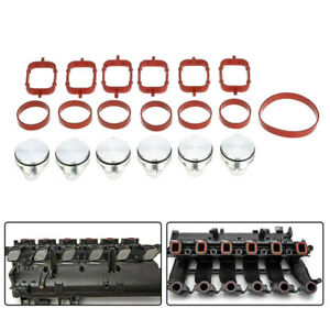 6x 33 Mm Swirl Flap Replacements Removal Blanks Manifold Gaskets For Bmw M57