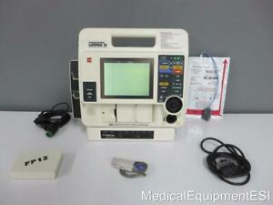 Lifepak 12 Monophasic 3 Lead Ecg Spo2 Ac Adapter Aed Als Pacing