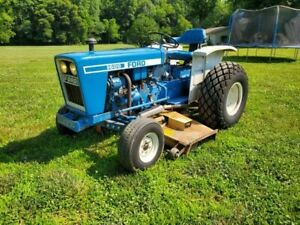 Very Clean Ford 1600 Belly Mower Diesel Tractor Clean Can Ship Cheap