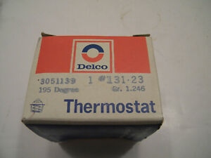 Nos Delco 195 Degree Thermostat 131 23 Gr 1 246 3051139 Buick Cad Pont Chev