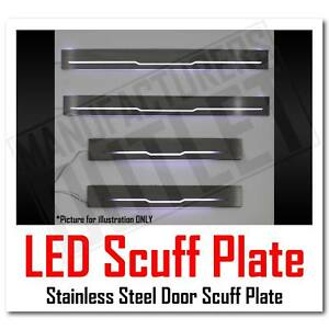 05 17 Toyota Tacoma Crew Cab Led Light Stainless Door Sill Scuff Plate Guard
