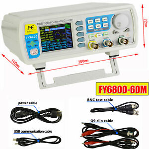 Dds Signal Generator Counter High Precision Dual channel Waveform Function60mhz